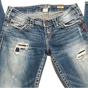 Silver Jeans distressed jeans pioneer w28 l31